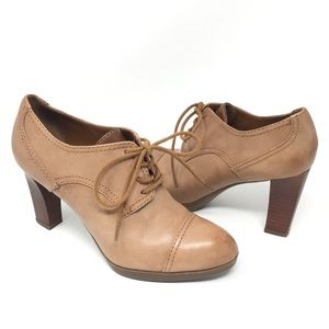Franco Sarto Izaro Genuine Leather Heeled Oxfords